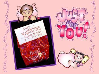 Dj Inkers Valentine Treat Bag Topper