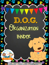 Dog Binder: Printable Parent Communication Notebook for #preschool and #kindergarten