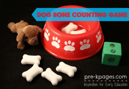 Dog Bone Counting Game for Pre-k and Kindergarten