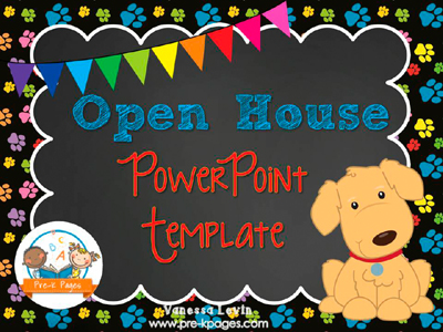 Dog Open House PowerPoint Template for #preschool and #kindergarten