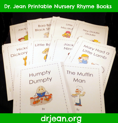 Printable Nursery Rhyme Packet includes mp3s from Dr. Jean