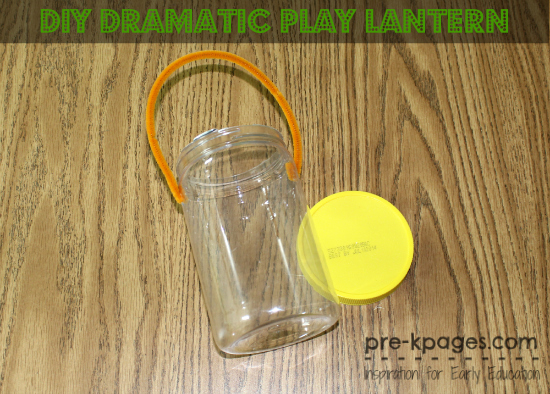 Dramatic Play Camping Lantern Tutorial for Preschool and Kindergarten