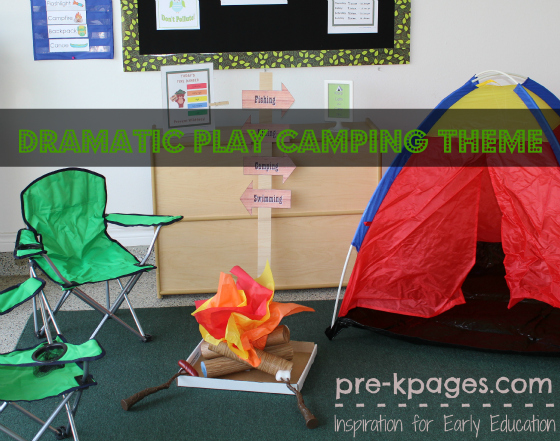 Dramatic Play Camping Printables For Preschool And Kindergarten