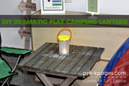 How to Make an Easy Lantern for Dramatic Play Camping Theme in Preschool and Kindergarten