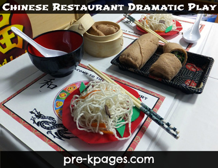 Dramatic Play Chinese Restaurant Center Theme Via Pre Kpages