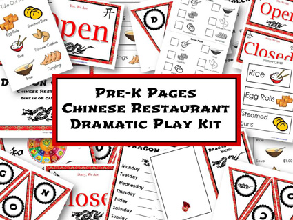 Dramatic Play Chinese Restaurant Printable Kit via www.pre-kpages.com