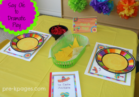 DIY Dramatic Play Chips and Salsa for preschool and kindergarten