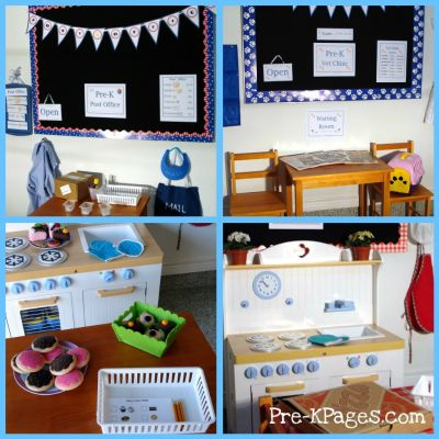 dramatic play collage