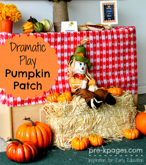 Dramatic Play Pumpkin Patch Ideas for #preschool and #kindergarten