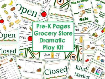 Dramatic Play Grocery Store Printables