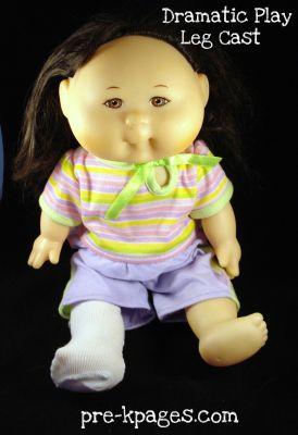 baby doll leg cast