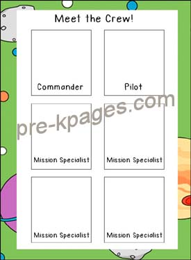 Free Printable Dramatic Play Space Station Poster for Preschool or Kindergarten via www.pre-kpages.com