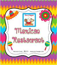 Dramatic Play Mexican Restaurant Printables for preschool and kindergarten