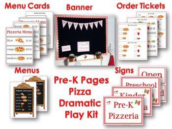 dramatic play pizza kit
