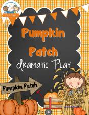 Pumpkin Patch Dramatic Play Printables for #preschool and #kindergarten