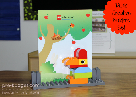 with Duplo Play Sets in Preschool