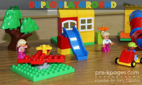 Fun with Duplo Play Sets in Preschool
