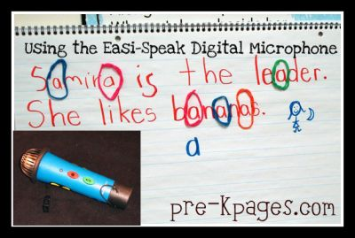 using the easi speak digital recorder for writing