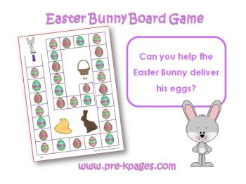 easter bunny board game in preschool