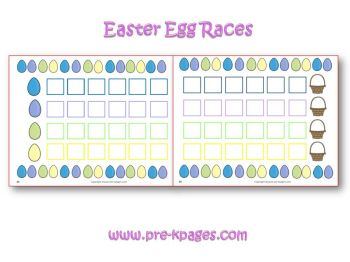 easter egg races game in preschool