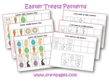 easter pattern activities in preschool