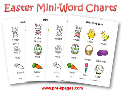 Printable Easter Mini Word Walls