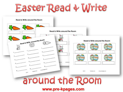 Printable Easter Read and Write Around the Room Activity