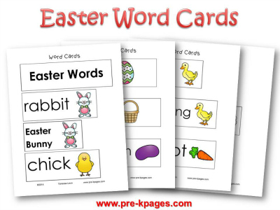 Printable Easter Words Cards for Pocket Chart