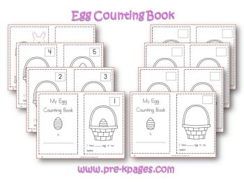 easter egg printable counting book in preschool