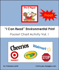 Free environmental print pocket chart printable activity via www.pre-kpages.com