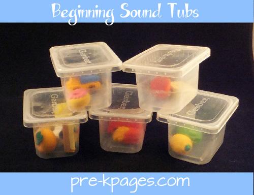 eraser beginning letter sound sorting tubs