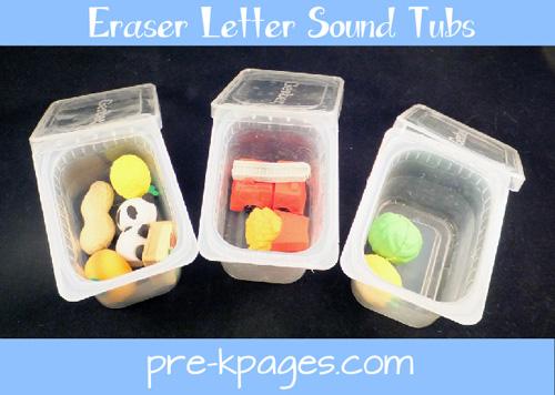 eraser letter sound tubs
