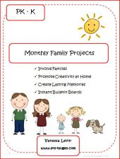 monthly parent involvement packet cover