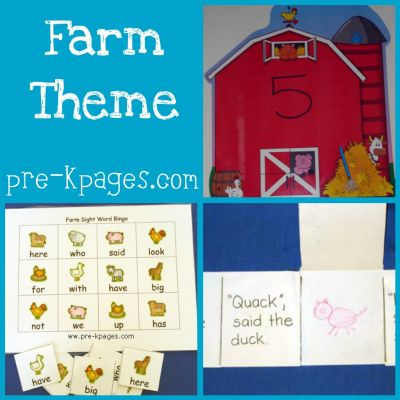 farm theme in preschool