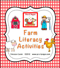 Printable Farm Literacy Activities for Preschool and Kindergarten