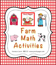 Printable Farm Math Activities for Preschool and Kindergarten