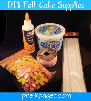 felt cake supplies