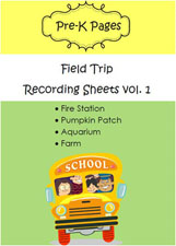 field trip scavenger hunts and recording sheets for preschool and kindergarten