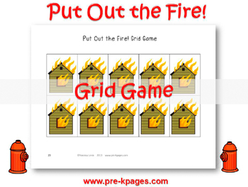 Printable Fire Safety Grid Game for #preschool