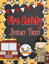 Fire Safety Printable Literacy Activities for Preschool and Kindergarten via www.pre-kpages.com