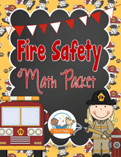 Printable Fire Safety Math Activities for #preschool