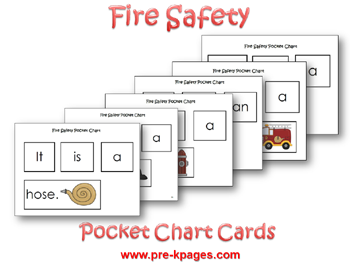 Fire Safety Pocket Chart Cards via www.pre-kpages.com