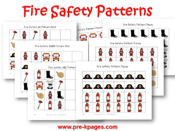 Fire Safety Patterns for #preschool