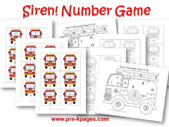 Siren Number Identification Game for #preschool