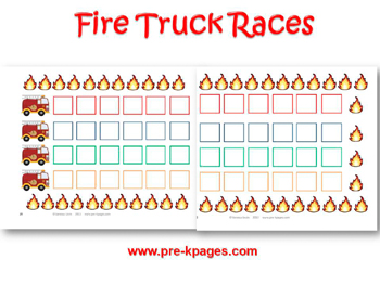 Fire Truck Races Game for #preschool