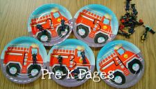 fire counting party plates