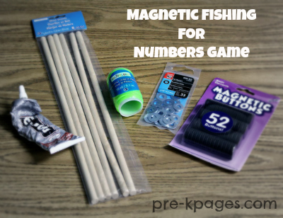 How to make your own magnetic fishing poles for #preschool