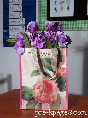 dramatic play flower shop bag