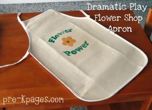 dramatic play florist apron