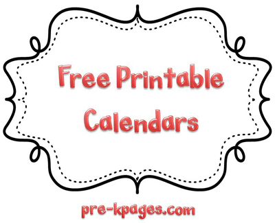 Free printable calendars in editable .doc format via www.pre-kpages.com